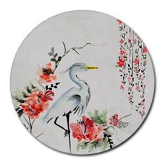 Background Scrapbook Paper Asian Round Mousepads