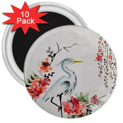 Background Scrapbook Paper Asian 3  Magnets (10 pack)