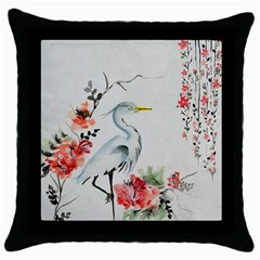Background Scrapbook Paper Asian Throw Pillow Case (Black)