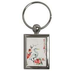 Background Scrapbook Paper Asian Key Chains (Rectangle)
