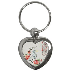 Background Scrapbook Paper Asian Key Chains (Heart)