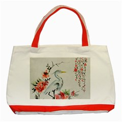 Background Scrapbook Paper Asian Classic Tote Bag (Red)