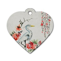 Background Scrapbook Paper Asian Dog Tag Heart (Two Sides)