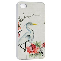 Background Scrapbook Paper Asian Apple iPhone 4/4s Seamless Case (White)
