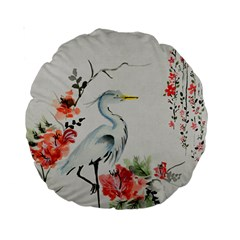 Background Scrapbook Paper Asian Standard 15  Premium Round Cushions