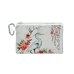 Background Scrapbook Paper Asian Canvas Cosmetic Bag (S)