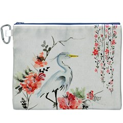Background Scrapbook Paper Asian Canvas Cosmetic Bag (XXXL)