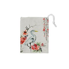 Background Scrapbook Paper Asian Drawstring Pouches (XS)