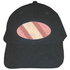 Background Pink Great Floral Design Black Cap