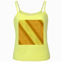 Background Pink Great Floral Design Yellow Spaghetti Tank