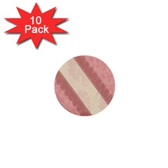 Background Pink Great Floral Design 1  Mini Buttons (10 pack)
