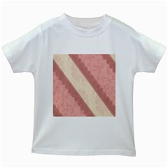 Background Pink Great Floral Design Kids White T-Shirts