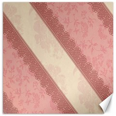 Background Pink Great Floral Design Canvas 16  x 16