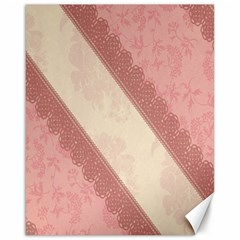 Background Pink Great Floral Design Canvas 16  x 20