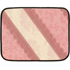 Background Pink Great Floral Design Double Sided Fleece Blanket (Mini)