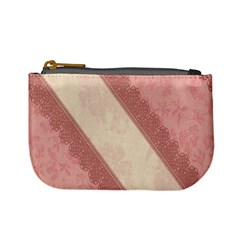 Background Pink Great Floral Design Mini Coin Purses