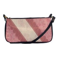 Background Pink Great Floral Design Shoulder Clutch Bags