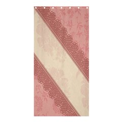 Background Pink Great Floral Design Shower Curtain 36  x 72  (Stall)