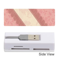 Background Pink Great Floral Design Memory Card Reader (Stick)