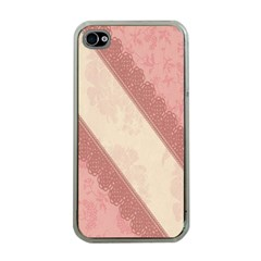 Background Pink Great Floral Design Apple iPhone 4 Case (Clear)