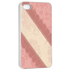 Background Pink Great Floral Design Apple iPhone 4/4s Seamless Case (White)