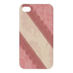 Background Pink Great Floral Design Apple iPhone 4/4S Premium Hardshell Case