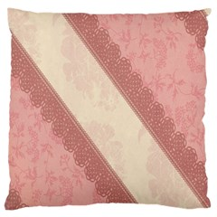 Background Pink Great Floral Design Large Cushion Case (One Side)