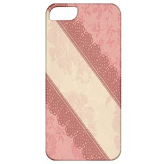 Background Pink Great Floral Design Apple iPhone 5 Classic Hardshell Case