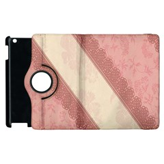 Background Pink Great Floral Design Apple iPad 2 Flip 360 Case