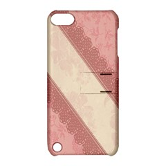 Background Pink Great Floral Design Apple iPod Touch 5 Hardshell Case with Stand