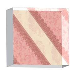 Background Pink Great Floral Design 5  x 5  Acrylic Photo Blocks
