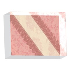 Background Pink Great Floral Design 5 x 7  Acrylic Photo Blocks