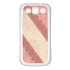 Background Pink Great Floral Design Samsung Galaxy S3 Back Case (White)