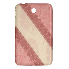 Background Pink Great Floral Design Samsung Galaxy Tab 3 (7 ) P3200 Hardshell Case