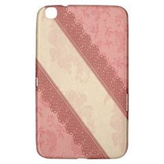 Background Pink Great Floral Design Samsung Galaxy Tab 3 (8 ) T3100 Hardshell Case