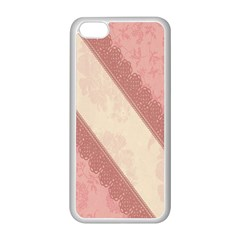 Background Pink Great Floral Design Apple iPhone 5C Seamless Case (White)