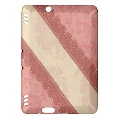 Background Pink Great Floral Design Kindle Fire HDX Hardshell Case