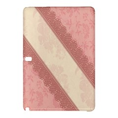 Background Pink Great Floral Design Samsung Galaxy Tab Pro 12.2 Hardshell Case