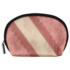 Background Pink Great Floral Design Accessory Pouches (Large)