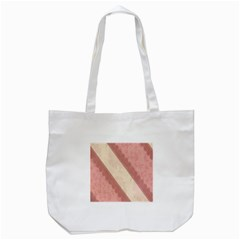 Background Pink Great Floral Design Tote Bag (White)