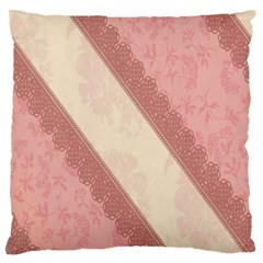 Background Pink Great Floral Design Standard Flano Cushion Case (Two Sides)