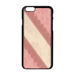 Background Pink Great Floral Design Apple iPhone 6/6S Black Enamel Case