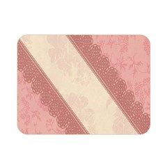 Background Pink Great Floral Design Double Sided Flano Blanket (Mini)