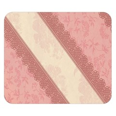 Background Pink Great Floral Design Double Sided Flano Blanket (Small)