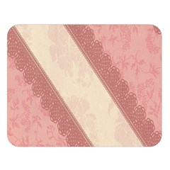 Background Pink Great Floral Design Double Sided Flano Blanket (Large)