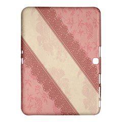 Background Pink Great Floral Design Samsung Galaxy Tab 4 (10.1 ) Hardshell Case