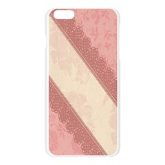 Background Pink Great Floral Design Apple Seamless iPhone 6 Plus/6S Plus Case (Transparent)