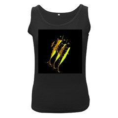 Yellow fish Women s Black Tank Top