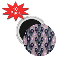 Background Abstract Pattern Grey 1.75  Magnets (10 pack)