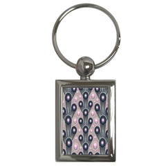 Background Abstract Pattern Grey Key Chains (Rectangle)